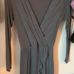 Jersey slit maxi dress